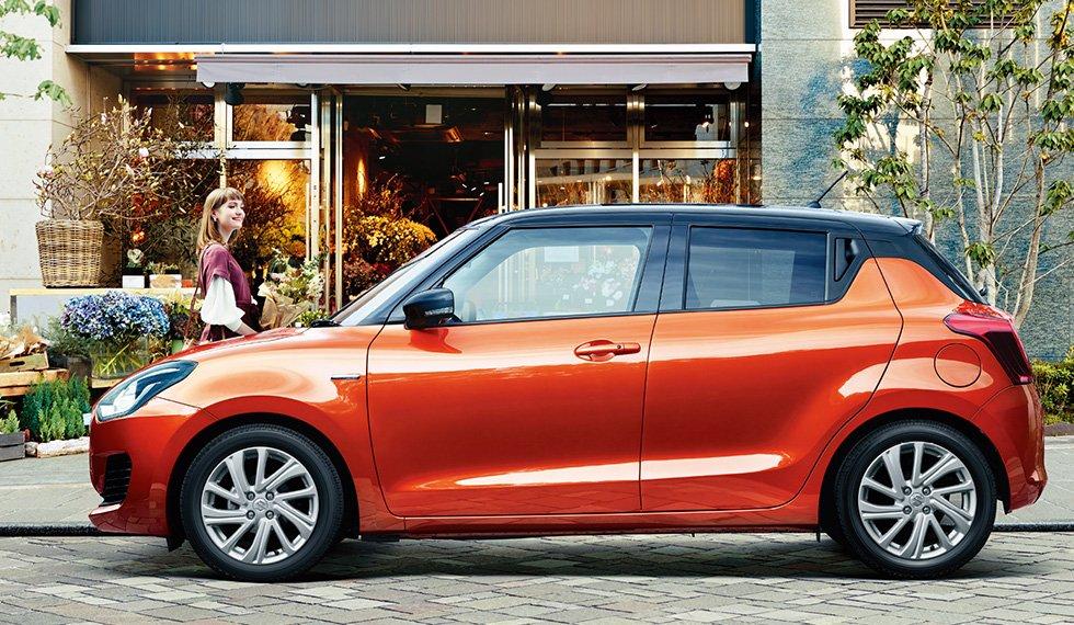 Đánh giá xe Suzuki Swift 2021 về thiết kế thân xe.