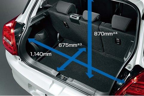 Đánh giá xe Suzuki Swift 2021 về khoang hành lý.